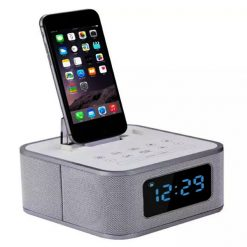 S1 Pro Alarm Clock Radio With Bluetooth Speaker and Lightning Interface - White