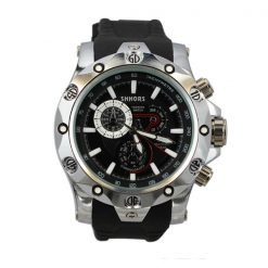 Shhors SH-0102 Men Quartz Movement Sport Watch - White Steel