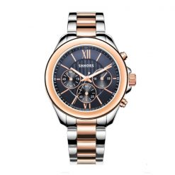 Shhors SH-A0016 Metal Casual Watch  - Rose gold/ Black Dial