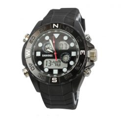 Shhors SH-0112 Men Dual Mode Sport Watch - Black
