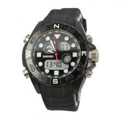 Shhors SH-0112 Men Dual Mode Sport Watch - Black