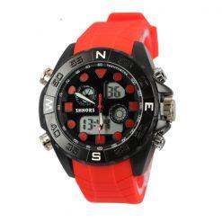Shhors SH-0112 Men Dual Mode Sport Watch - Red