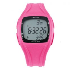 Shhors SH-0270 Sport Watch With Pedometer - Pink