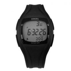 Shhors SH-0270 Sport Watch With Pedometer - Black