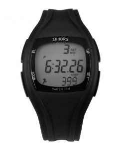 Shhors SH-0270 Sport Watch With Pedometer - Black