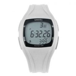 Shhors SH-0270 Sport Watch With Pedometer - White