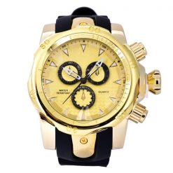 Shhors SH-80085 Men Quartz Analog Sports Watch - Gold