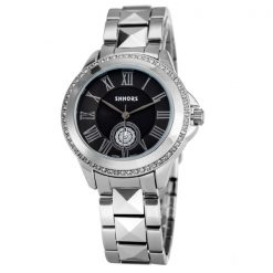 Shhors SH-A0012 Women Steel Casual Watch - Black