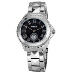 Shhors SH-A0012 Women Steel Casual Watch - Black
