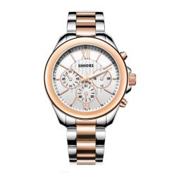 Shhors SH-A0016 Metal Casual Watch  - Rose gold/ White Dial