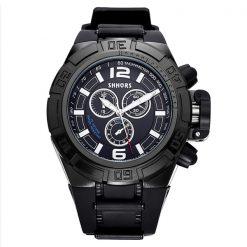 Shhors SH-A0050A Men Waterproof Quartz Watch - Black