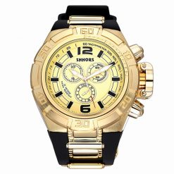 Shhors SH-A0050A Men Waterproof Quartz Watch - Gold