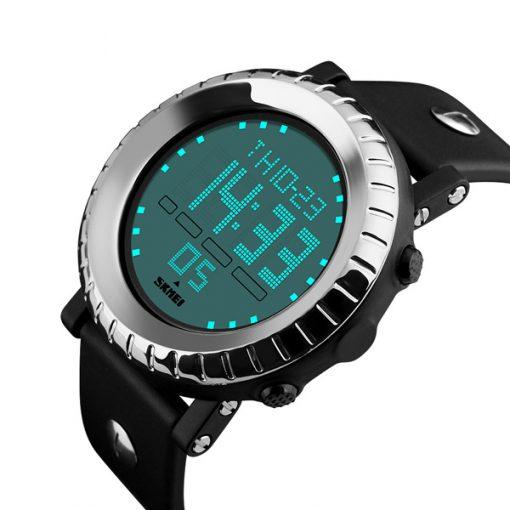 Waterproof LG1172 LED Display Sport Digital Watch - Silver