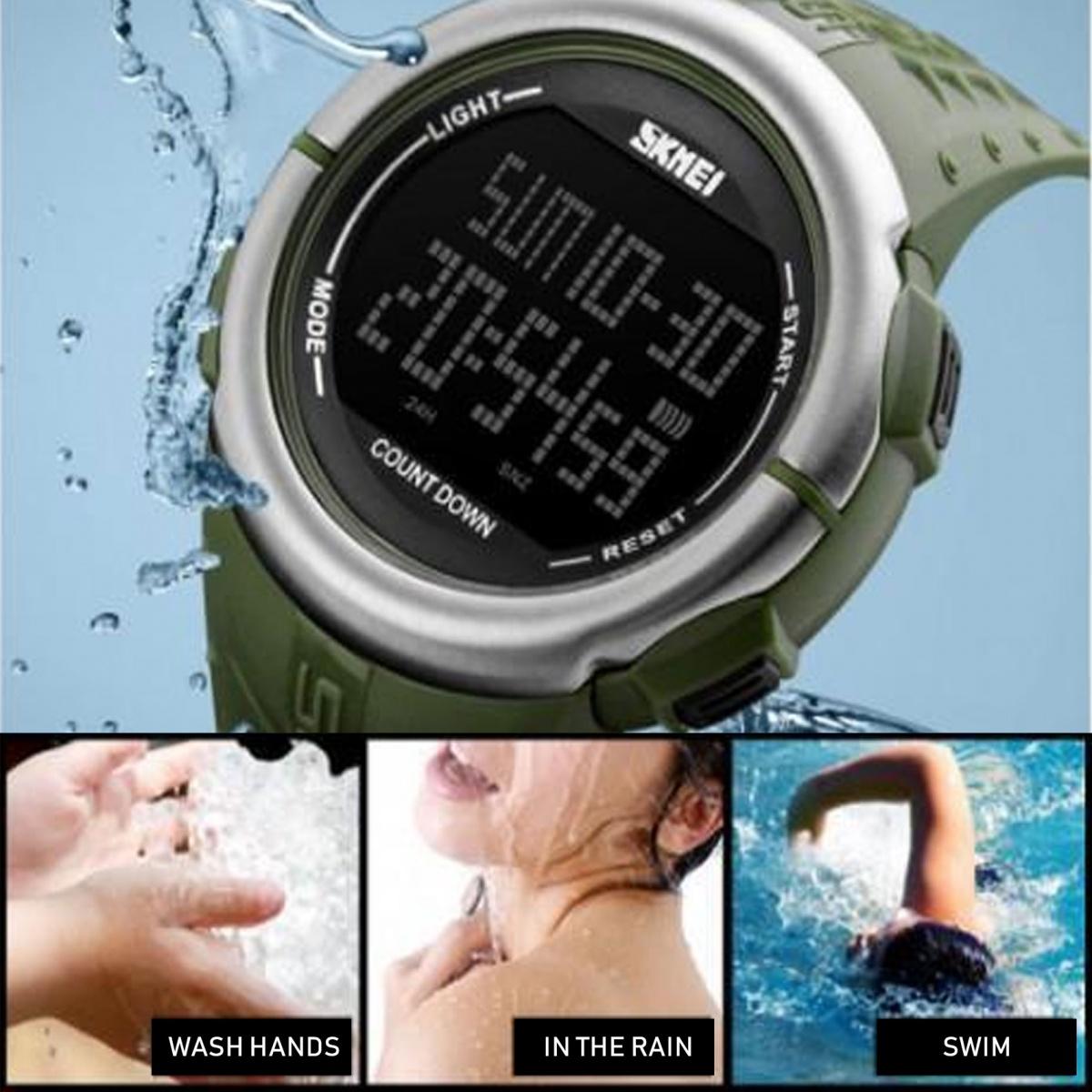 SKMEI 1286  Multifunction Sport Watch - Green