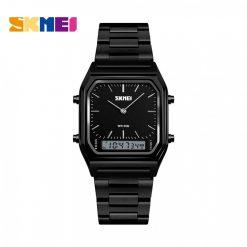 SKMEI 1220 Fashion EL Backlight Waterproof  Watch - Black