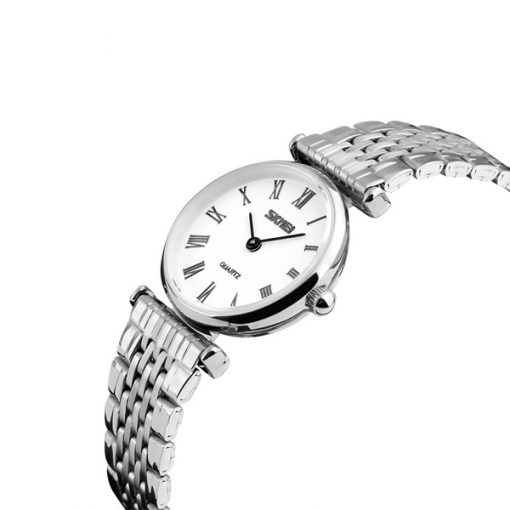 SKMEI Lady Stainless Casual Watch - White