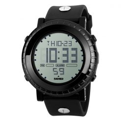 Waterproof LG1172 LED Display Sport Digital Watch - Black