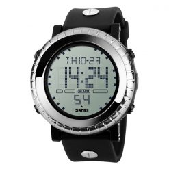 Waterproof LG1172 LED Display Sport Digital Watch - Silver