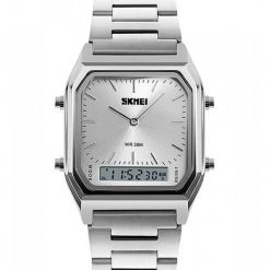 SKMEI 1220 Fashion EL Backlight Waterproof Watch - Silver