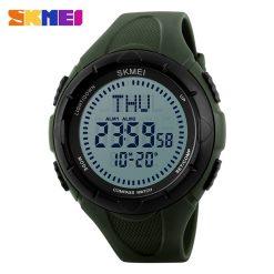 SKMEI 1232 30M Waterproof Digital Watch With Compass - Green