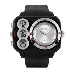 Skmei 1090 Men Dual Mode Analaog and  Digital Watch -  Silver