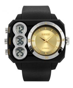 Skmei 1090 Men Dual Mode Analaog and  Digital Watch - Gold