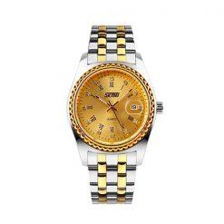 SKMEI 30 Meters Waterproof Stainless Steel Analog Wrist Watch - Gold