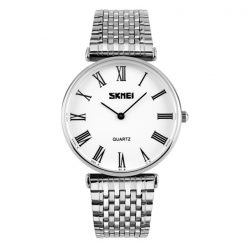 SKMEI Men Stainless Casual Watch - White