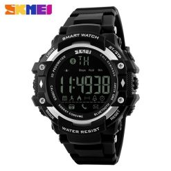 SKMEI DG1226 50m Waterproof Sports Bluetooth Watch - Black