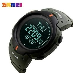 SKMEI Compass Edition Digital Sports Watch - Green
