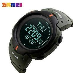 SKMEI Compass Edition Digital Sports Watch - Green