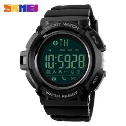 SKMEI DG1245 50m Waterproof Sports Pedometer 3D Bluetooth Watch - Black