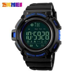 SKMEI DG1245 50m Waterproof Sports Pedometer 3D Bluetooth Watch - Blue