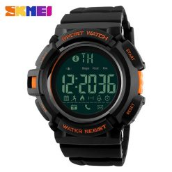 SKMEI DG1245 50m Waterproof Sports Pedometer 3D Bluetooth Watch - Orange