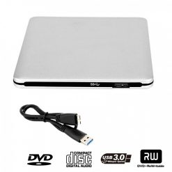 Super Slim USB Powered Portable DVD Rom - Silver