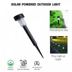 Solar Powered Garden LED Light - Black