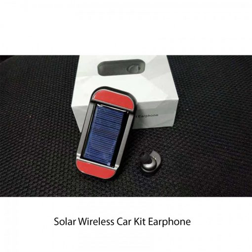 Solar Charged Bluetooth Headset - Black