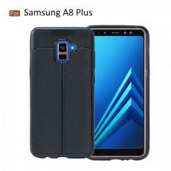 Samsung A8 Plus Autofocus Silicone Back Cover Case - Black