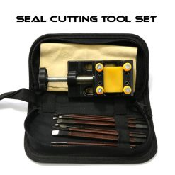 Stamp Seal Manganese Steel Cutting Carving Tool Set - Black