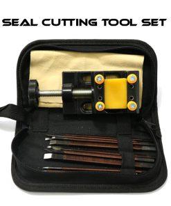 Stamp Seal Manganese Steel Cutting Carving Tool Set - Black