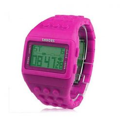 Shhors Minecraft Digital Wrist Watch - Purple