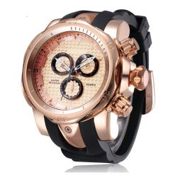 Shhors SH-80085 Men Quartz Analog Sports Watch - Rosegold