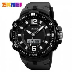 Skmei 1273 50M Waterproof Dual Display Watch - Black
