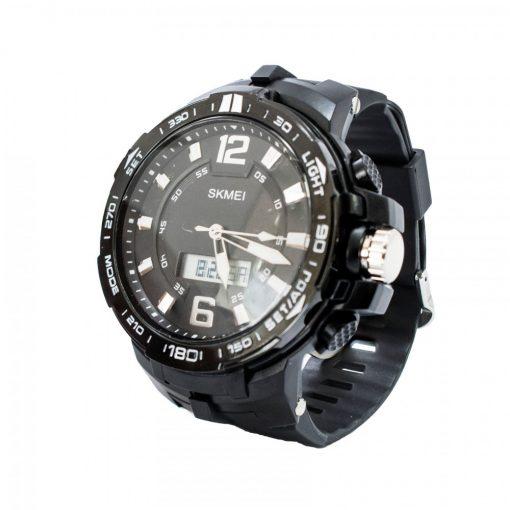 Skmei 1273 50M Waterproof Dual Display Watch - Black