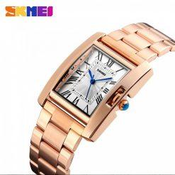 Skmei 1284 30M Waterproof Analog Women's Watch - Gold