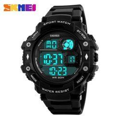 SKMEI 50M Water Resistant Sport Digital Watch - Black