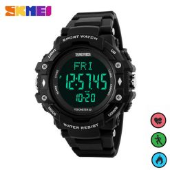 SKMEI 1180 Multifunction Digital Watch With Pedometer Heart Rate Monitor - Black