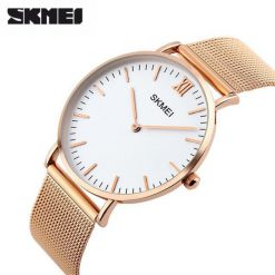 Skmei 1181 Stainless Steel Strap Casual Watch - Gold