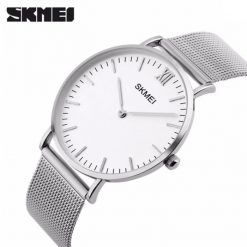 Skmei 1181 Stainless Steel Strap Casual Watch - Silver