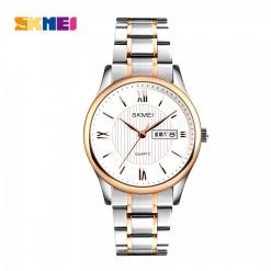 SKMEI 1261 Zinc Alloy 30 Meters Water Resistant Business Watch - Silver/Gold